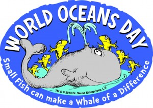 Logo for World Oceans Day when Your Sanctuary TV will be launched, June 8, 2013.